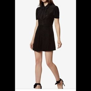 🎄<Avec Les Filles> Velvet Burnout Dress